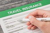 Travel insurance safe background.