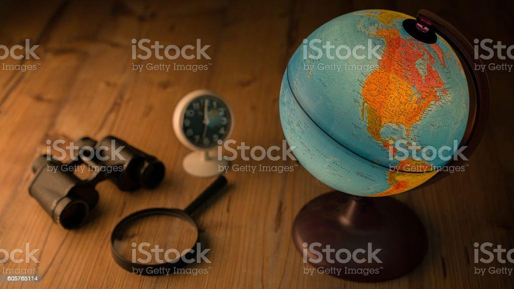Travel items stock photo