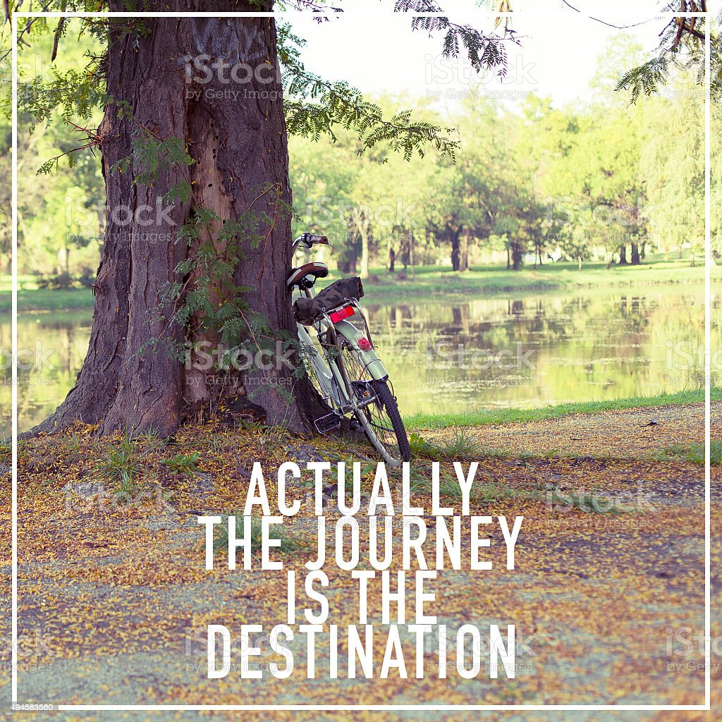 Travel Journey Life Quote Poster Background Design stock photo