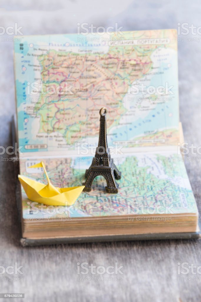 travel, journey, trip idea or vacation stock photo