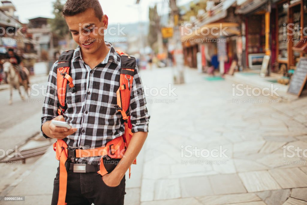 Travel like a local stock photo