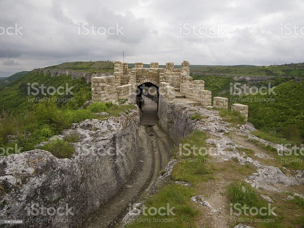 Travel locations in Bulgaria, view from fortress Ovech stock photo