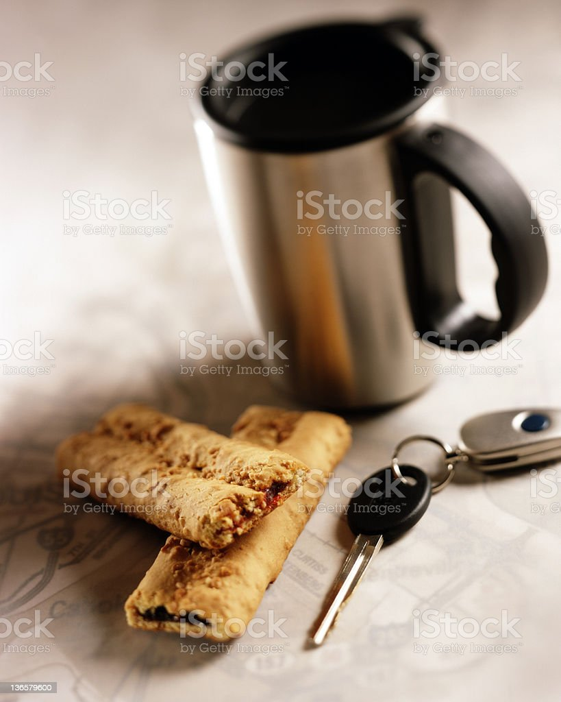 Travel mug royalty-free stock photo