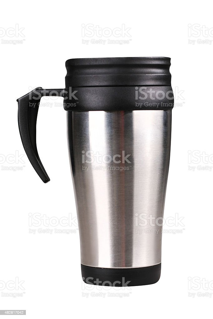 Travel mug stock photo