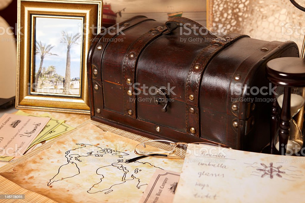Travel objects royalty-free stock photo