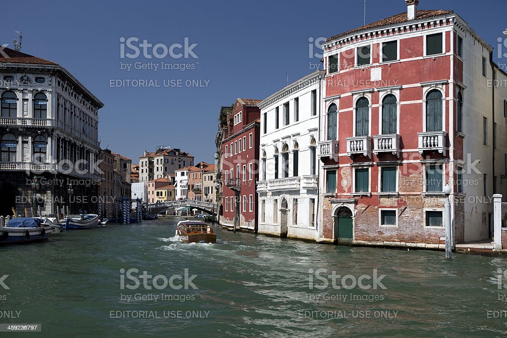 Travel on the grand Canal royalty-free stock photo