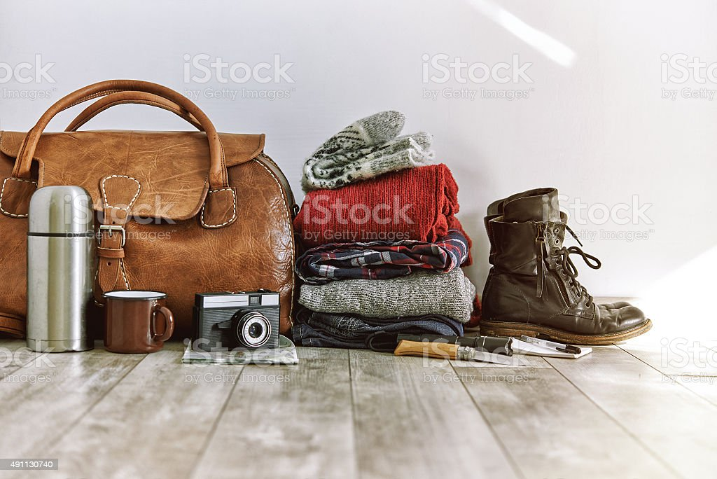 travel pack stock photo