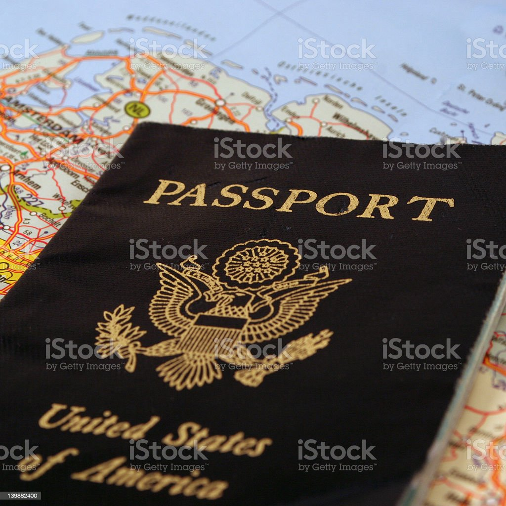 travel passport royalty-free stock photo