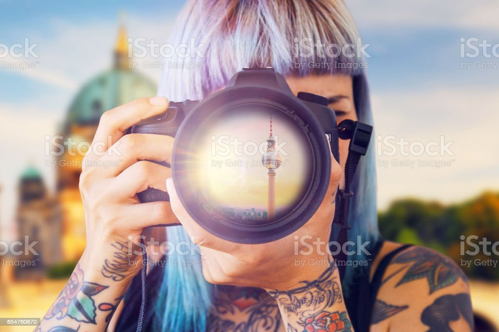 Travel Photographer in Berlin stock photo