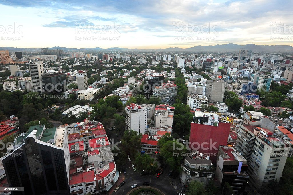Travel Photos Mexico - Mexico City Cityscape stock photo