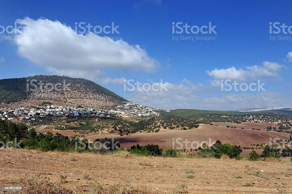 Travel Photos of Israel - Mount Tabor and Izrael Valley stock photo