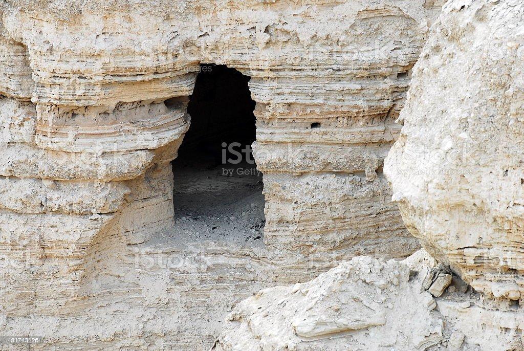 Travel Photos of Israel - Qumran Caves stock photo