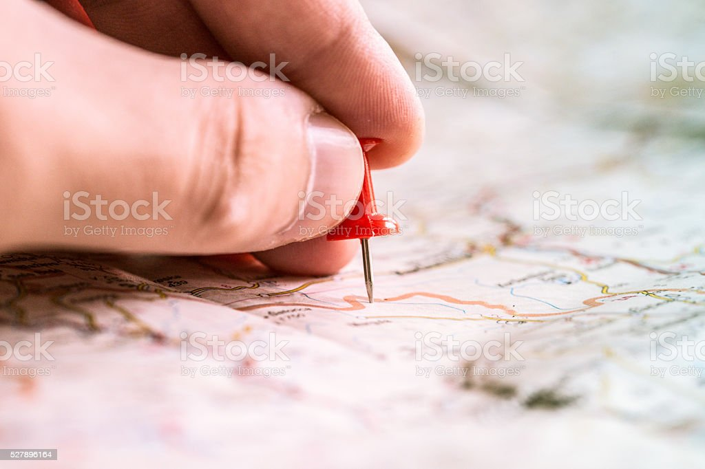 Travel planing stock photo