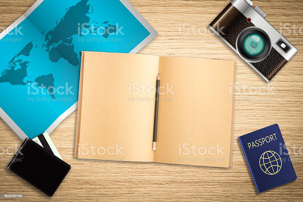 Travel planning concept background stock photo