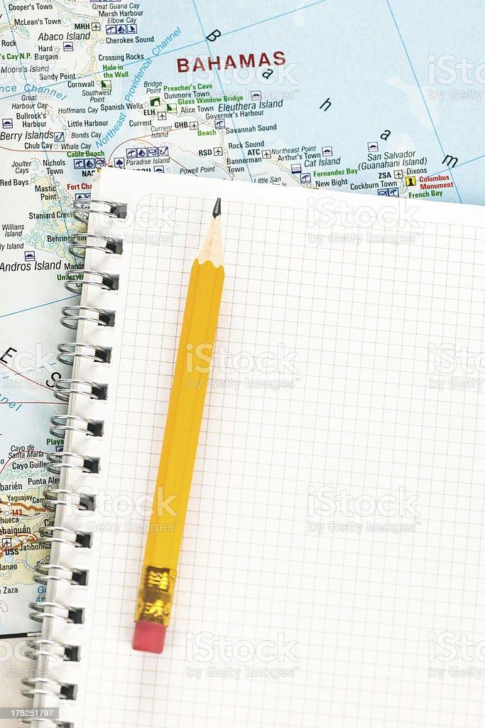 Travel planning royalty-free stock photo
