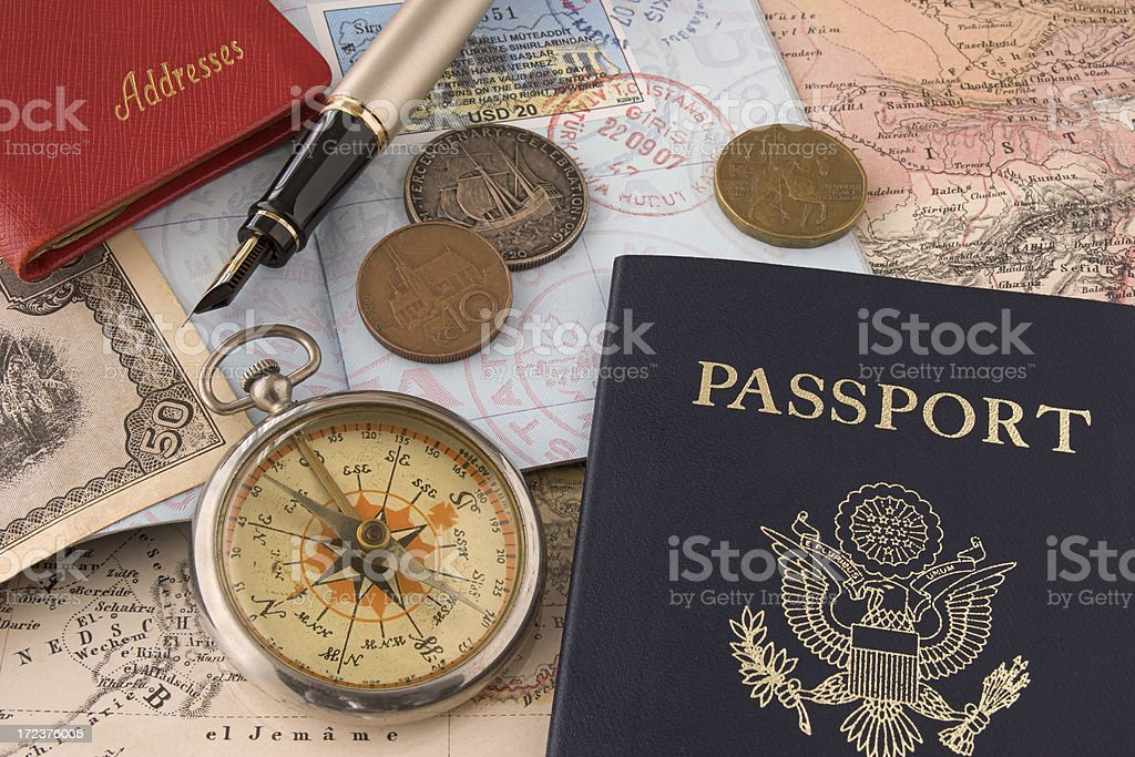 Travel Related Items royalty-free stock photo