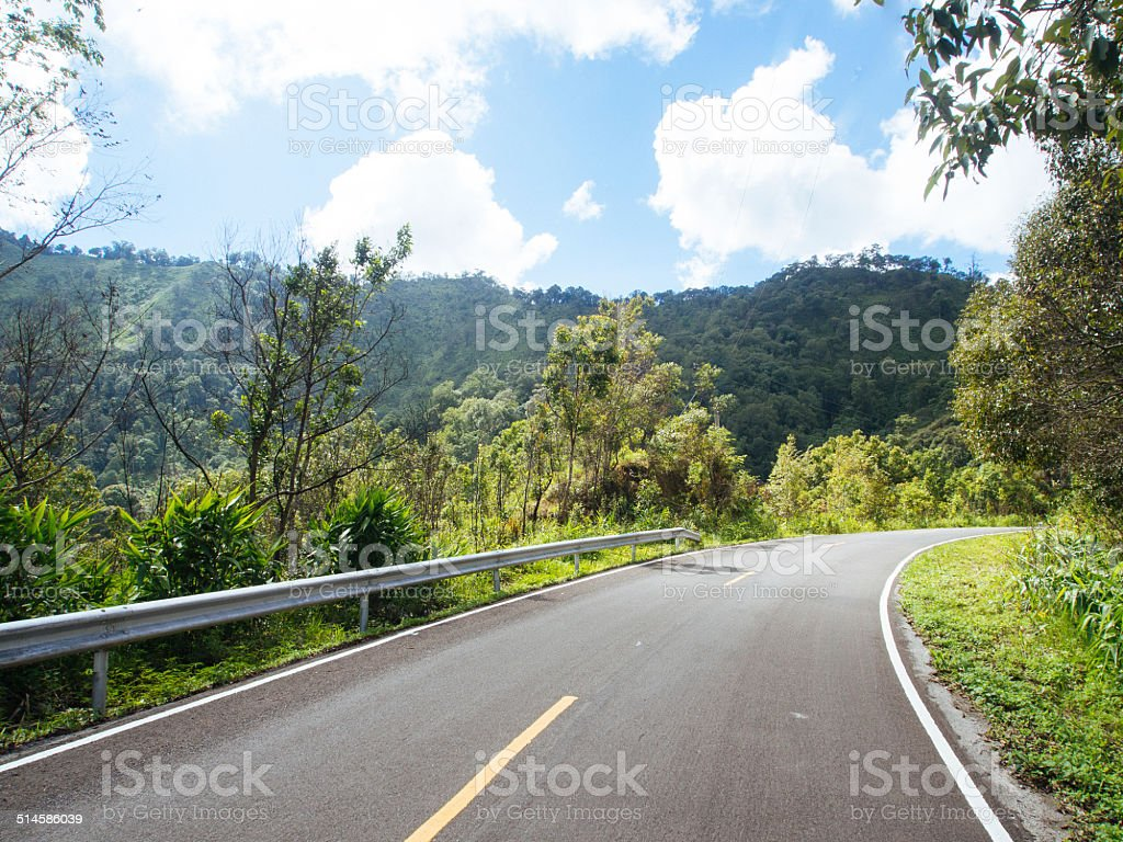 Travel road to nature stock photo