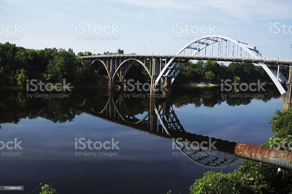 Travel Selma, Alabama Edmund Pettus Bridge stock photo