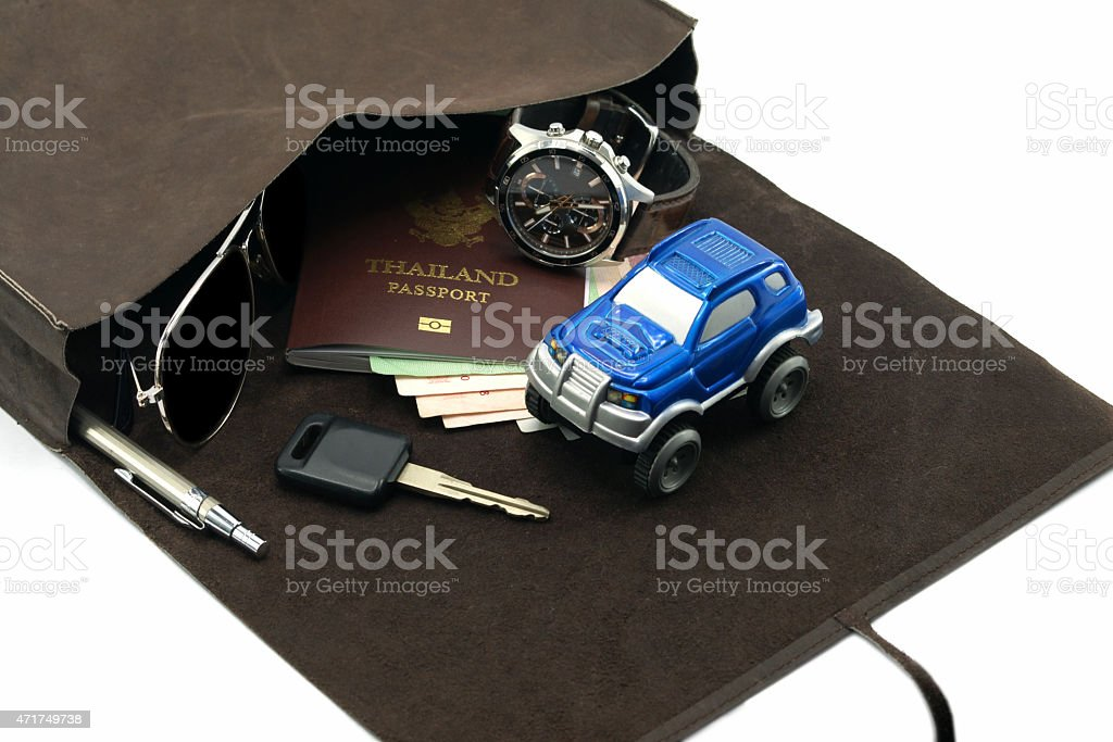 Travel set for adventure concept stock photo