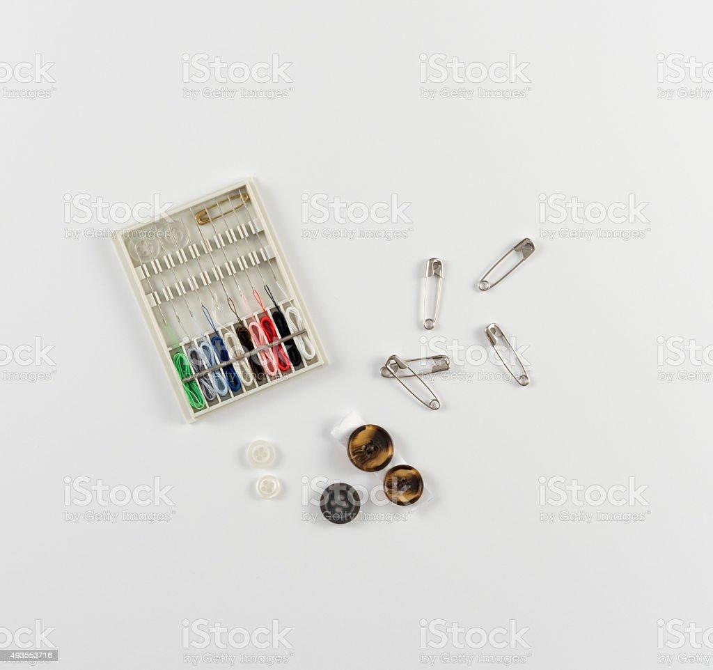 Travel Sewing Kit stock photo
