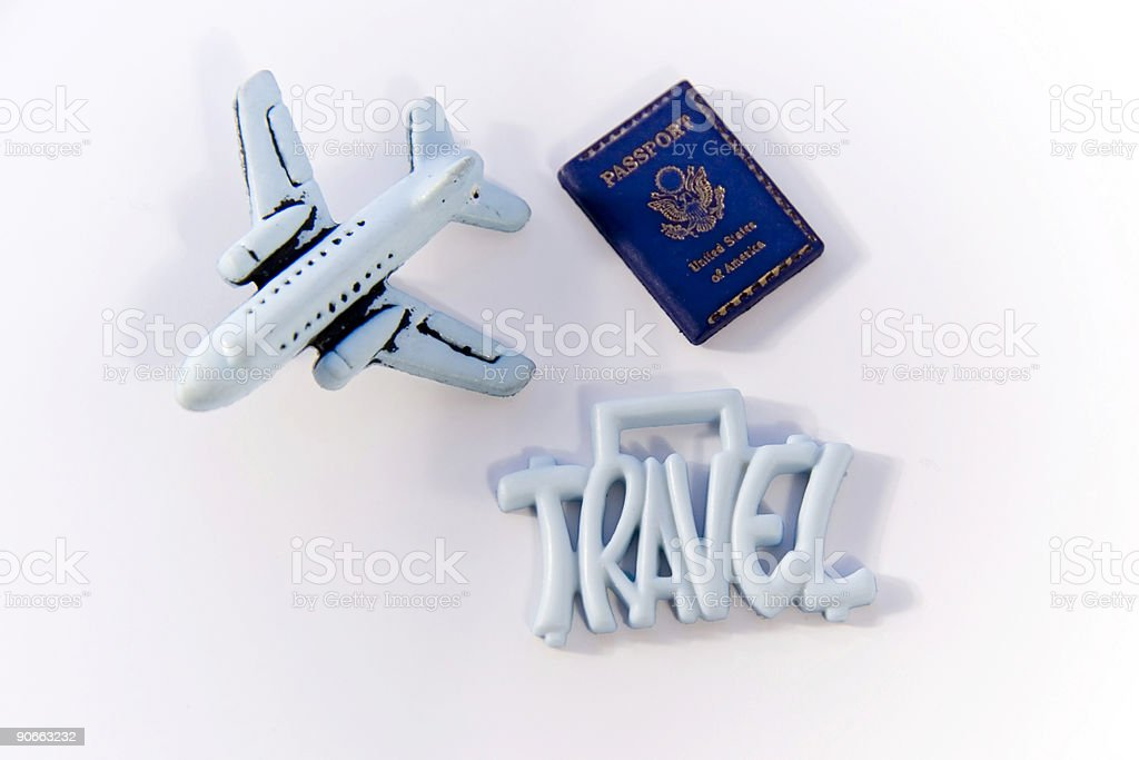 Travel Sign with Plane royalty-free stock photo