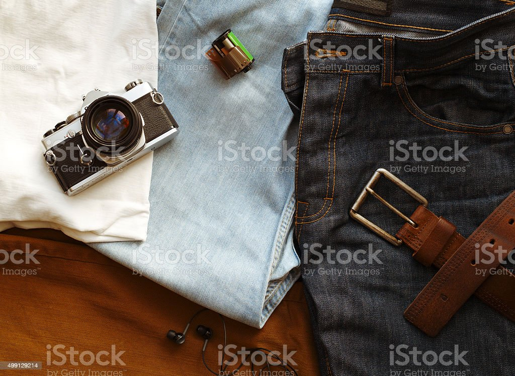 Travel stuff stock photo