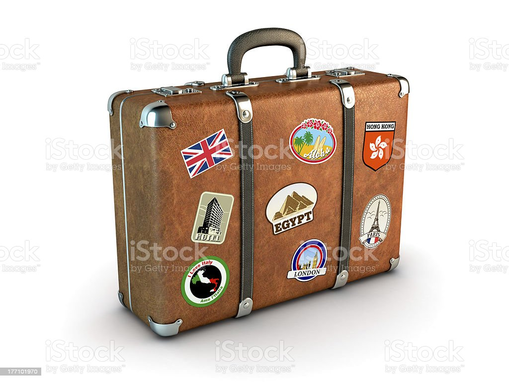 Travel Suitcase stock photo