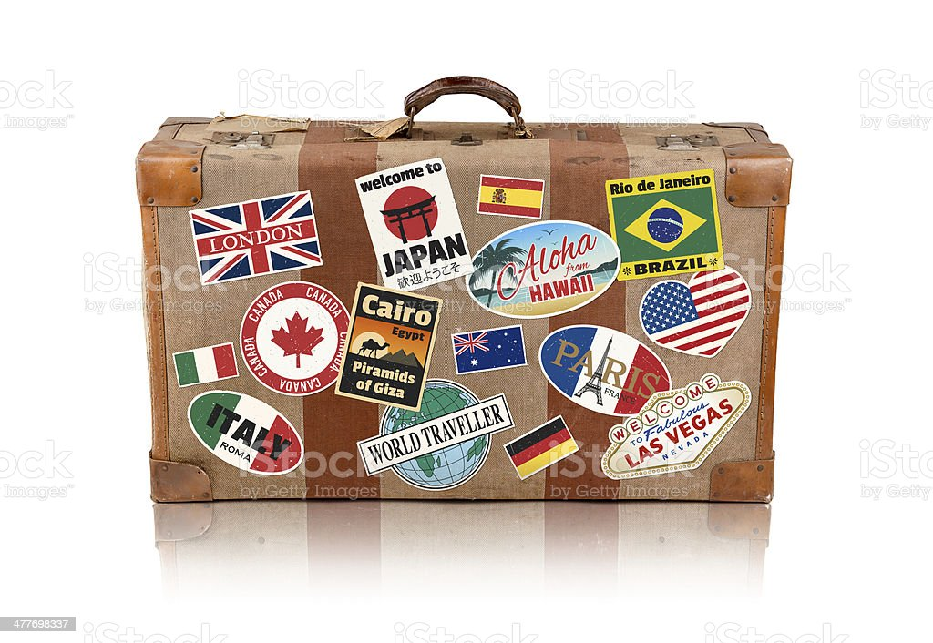 Travel Suitcase (Clipping Path) stock photo