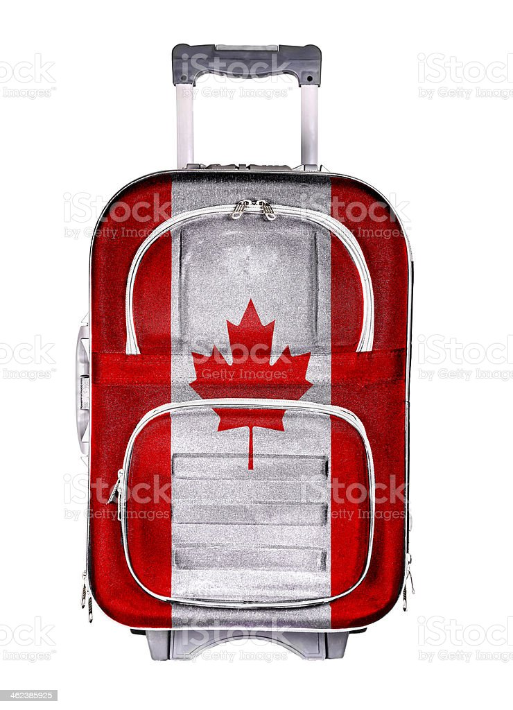 Travel suitcase, the concept of emigration stock photo