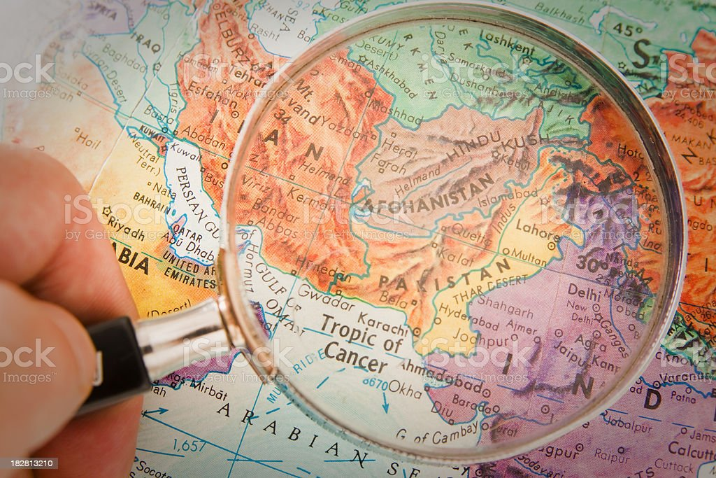 Travel the Globe Series - Afghanistan, Pakistan royalty-free stock photo
