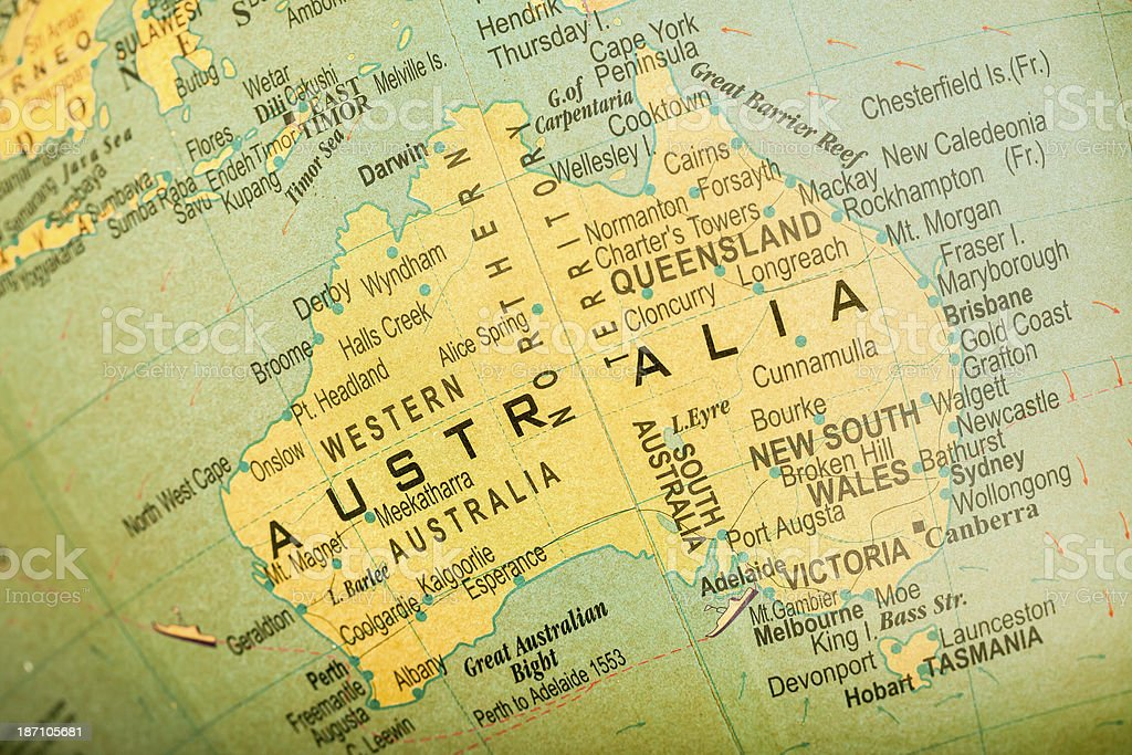 Travel The Globe Series - Australia royalty-free stock photo