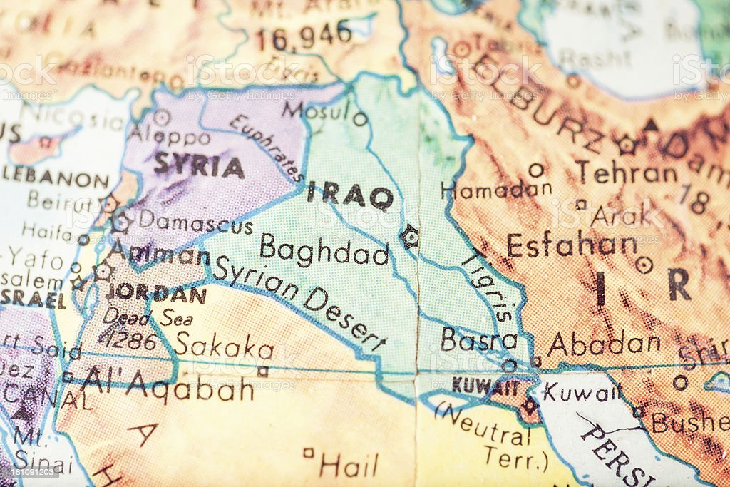 Travel The Globe Series - Baghdad royalty-free stock photo