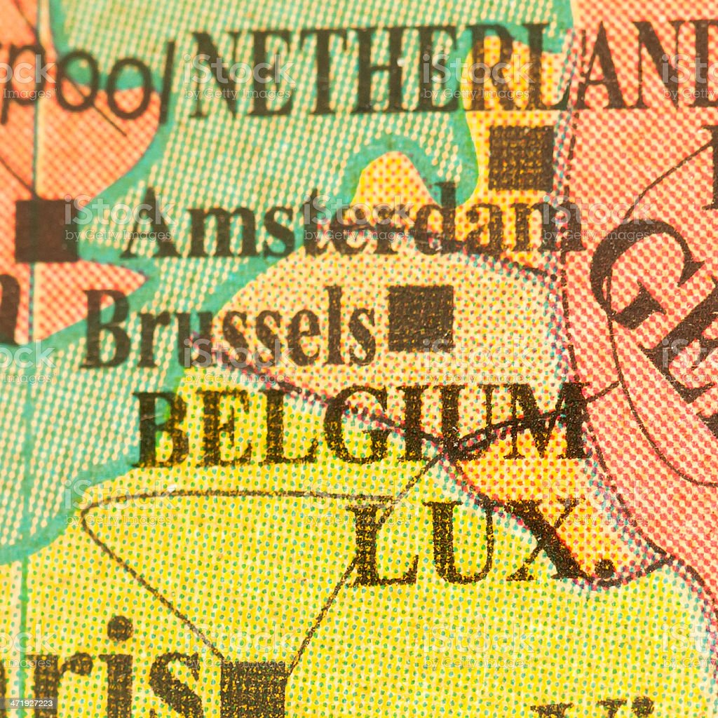 Travel the Globe Series - Belgium, Luxembourg stock photo