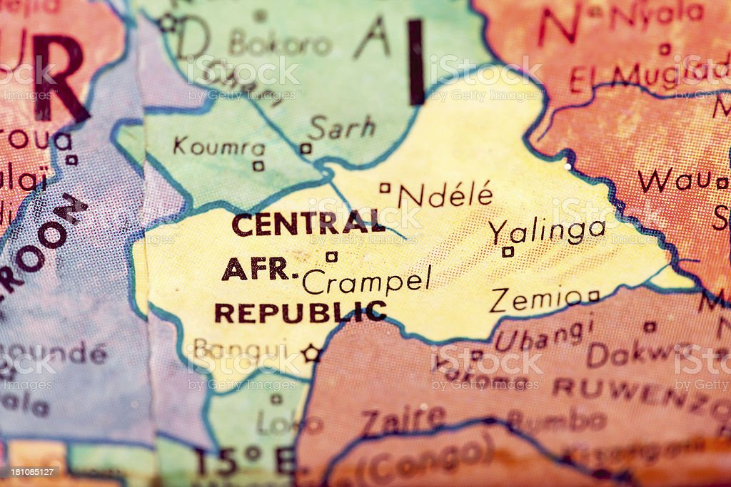 Travel The Globe Series - Central African Republic stock photo
