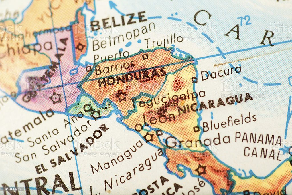 Travel The Globe Series - Honduras royalty-free stock photo