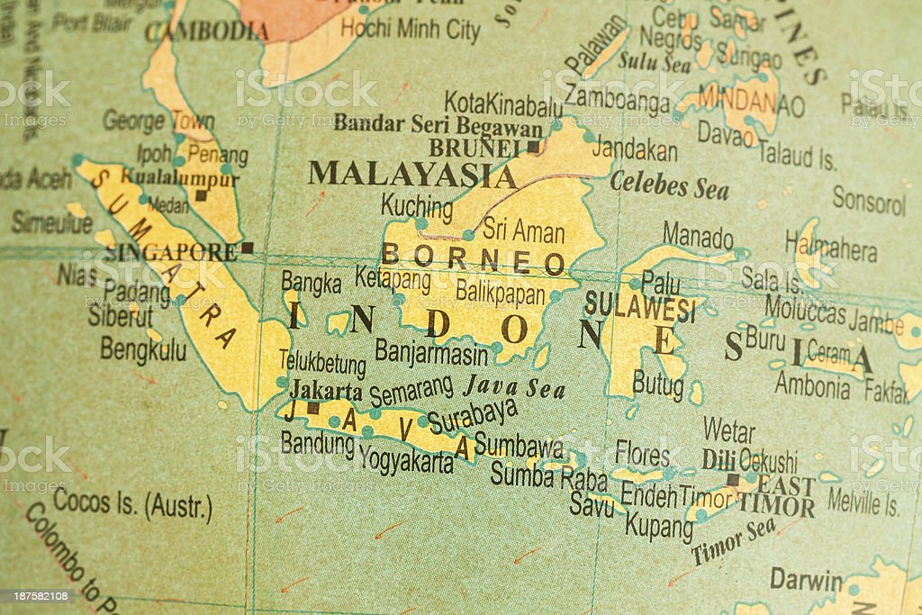 Travel The Globe Series - Indonesia stock photo
