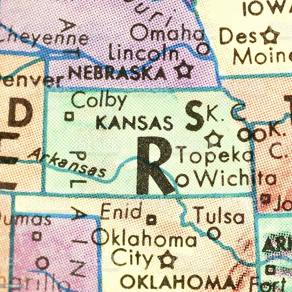Travel the Globe Series - Kansas royalty-free stock photo