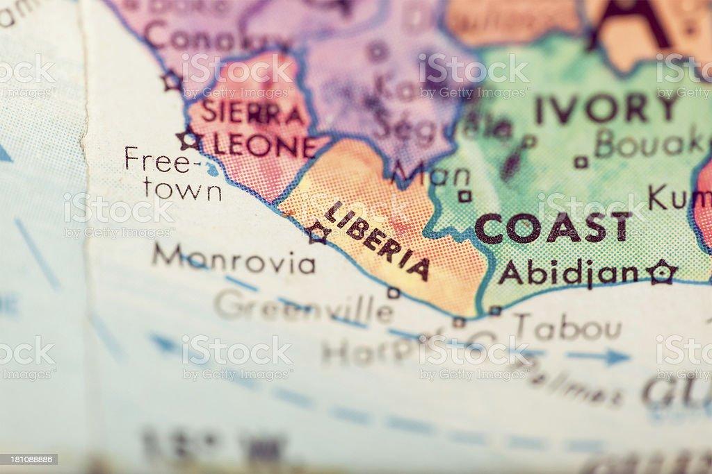 Travel The Globe Series - Liberia royalty-free stock photo