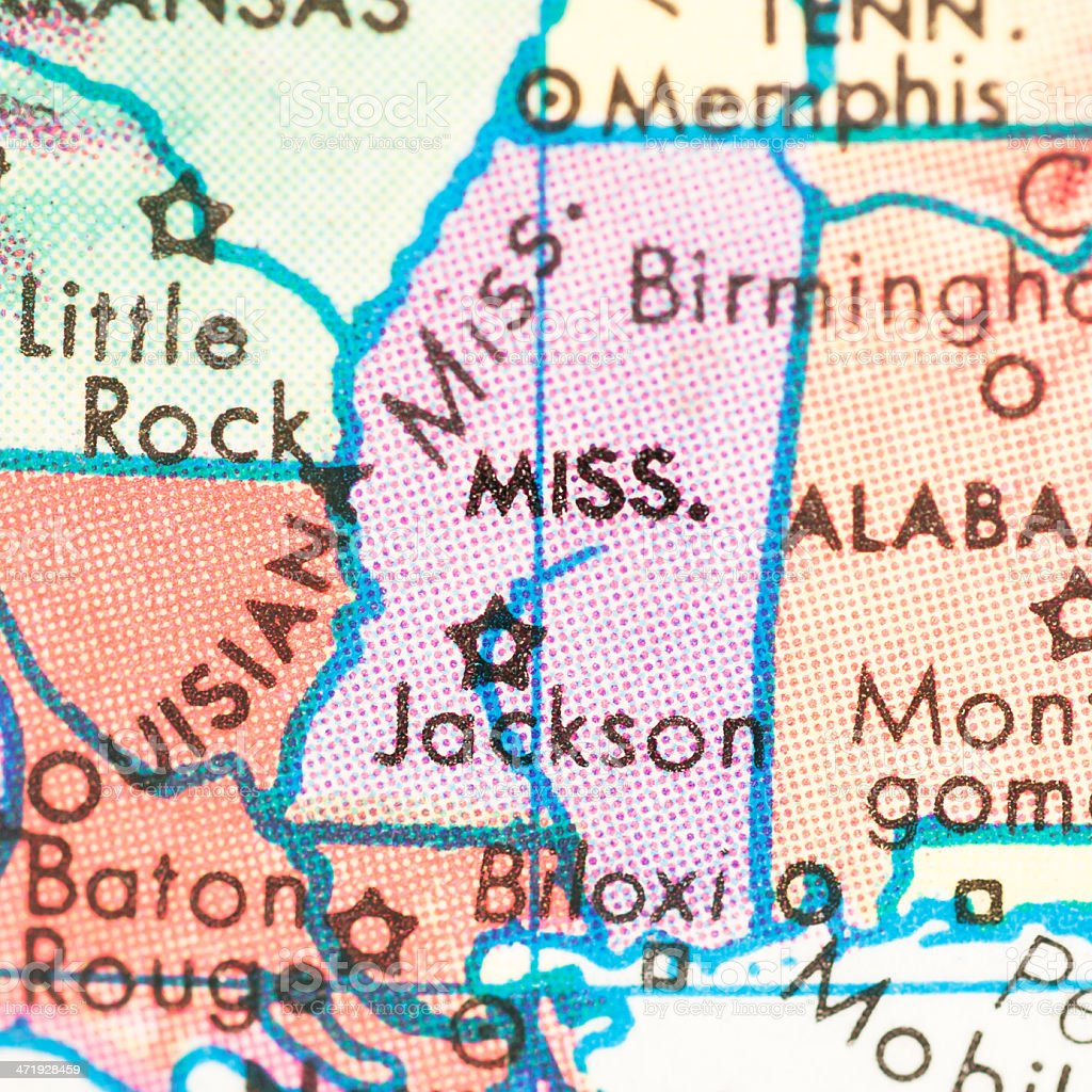Travel the Globe Series - Mississippi stock photo