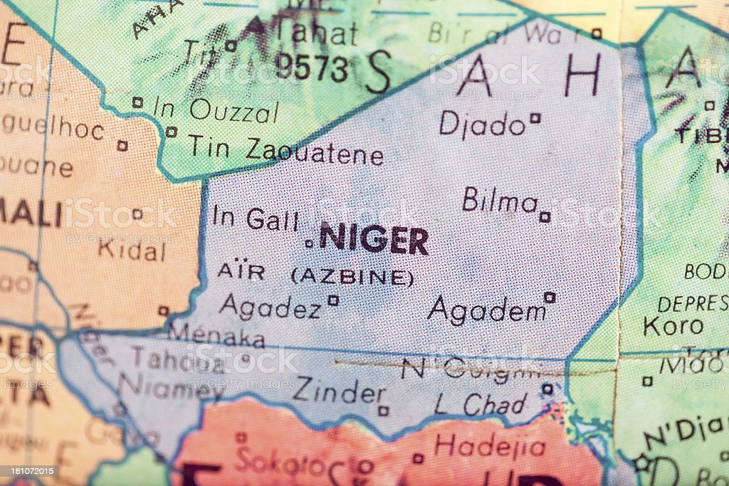 Travel The Globe Series - Niger royalty-free stock photo