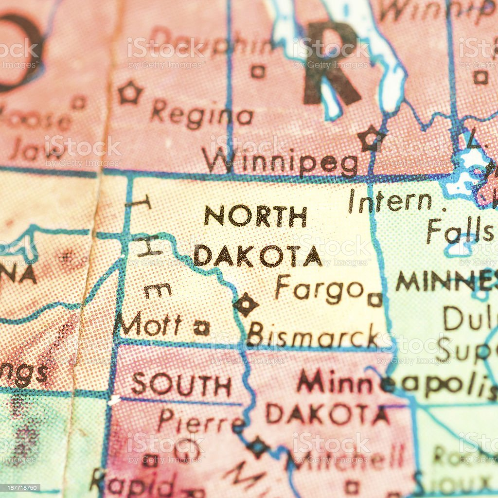 Travel the Globe Series - North Dakota stock photo