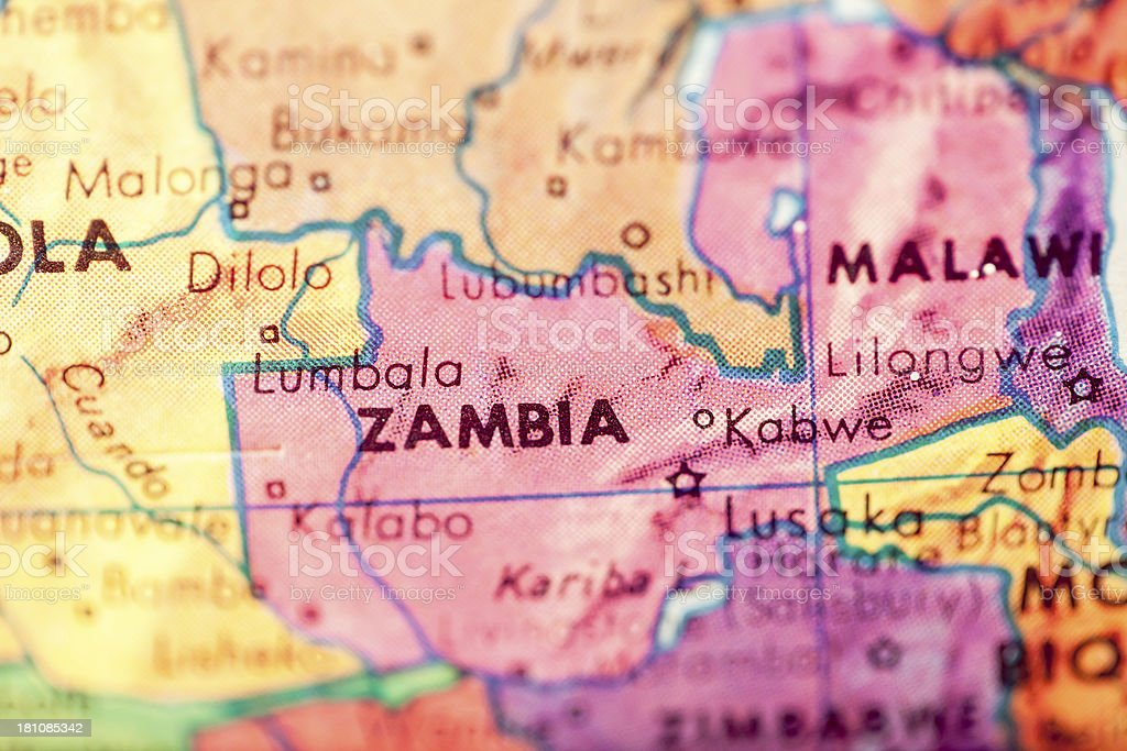 Travel The Globe Series - Zambia stock photo