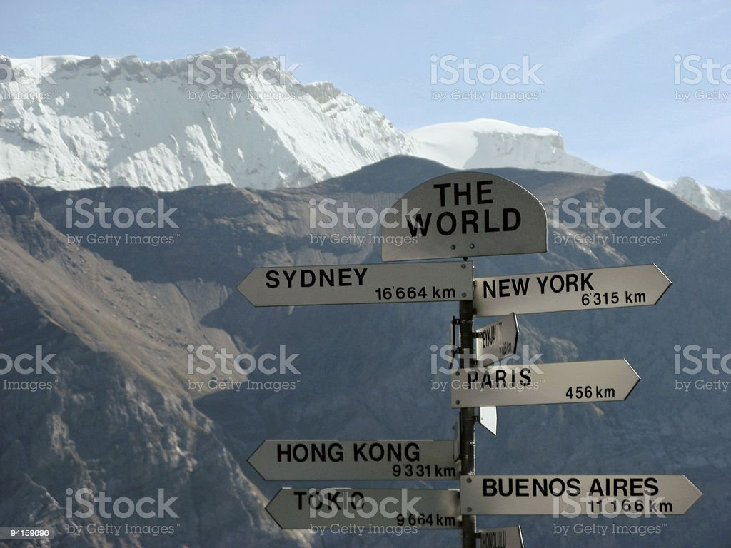 Travel; The world from here royalty-free stock photo