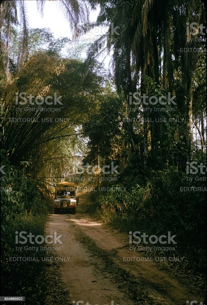 Travel through Central Africa, 1974 stock photo