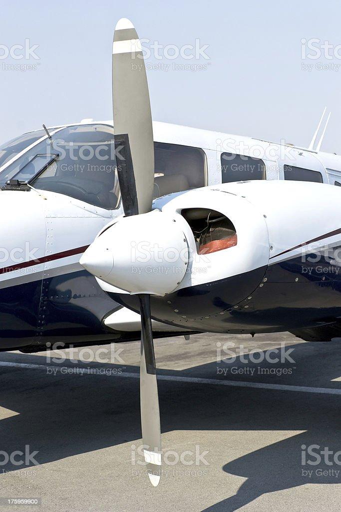 Travel Time Plane Engine royalty-free stock photo