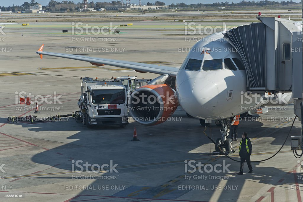 Travel time with Easyjet royalty-free stock photo