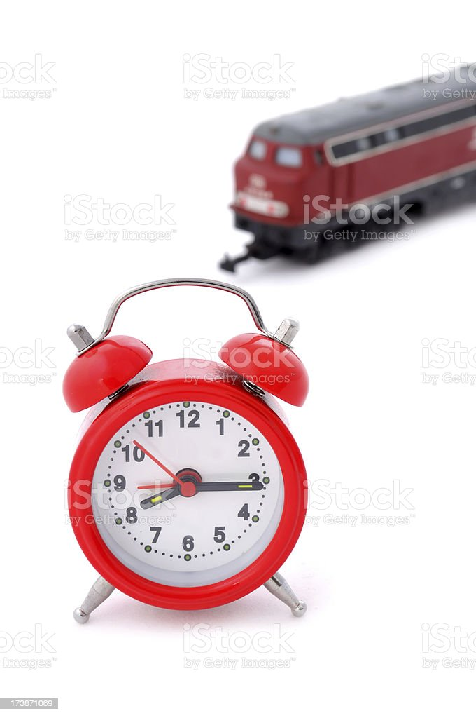 travel time with train royalty-free stock photo