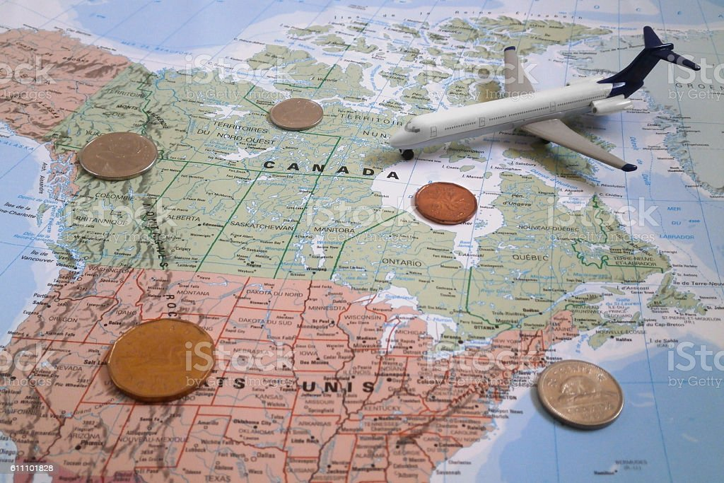 Travel to Canada stock photo
