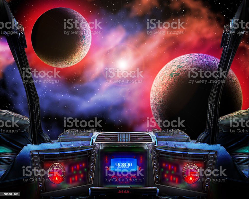 Travel to distant worlds. stock photo