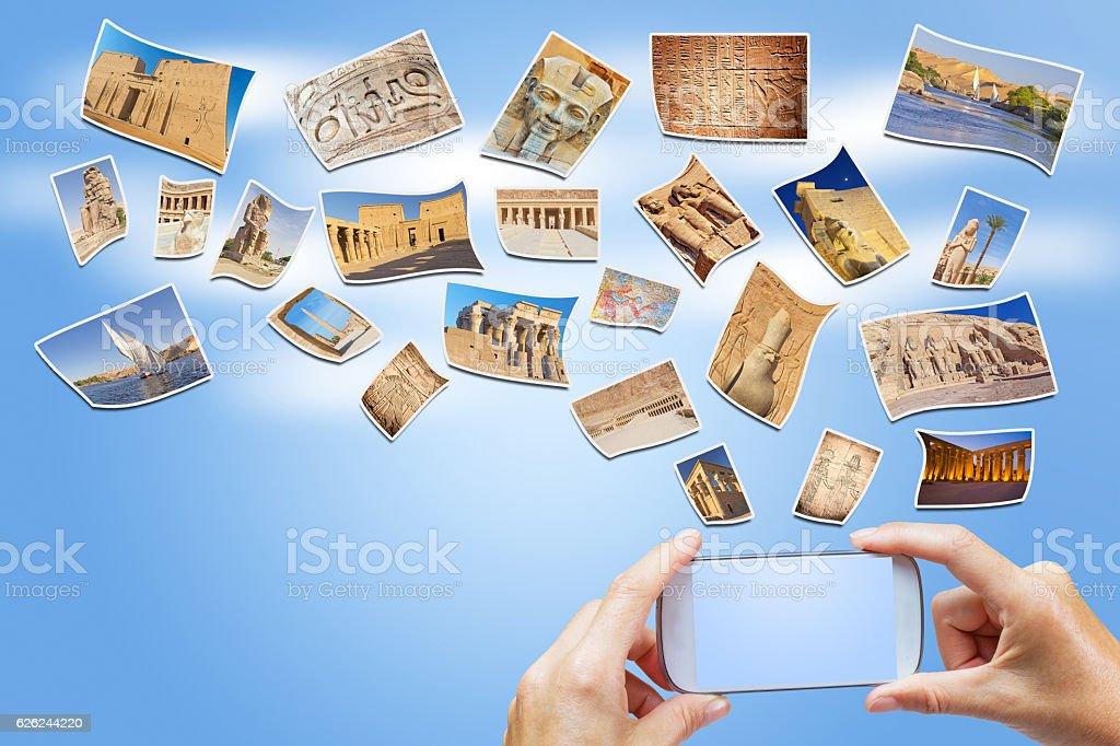 Travel to Egypt concept stock photo